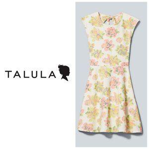 ARITZIA TALULA Neon Floral A-Line Boho Dress